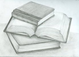 Stack Of Books Pencil Drawing Google Search Book Drawing Book