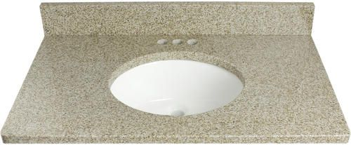 25 Quot X 22 Quot 3 Cm Granite Vanity Top At Menards Golden 139