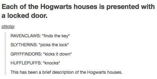 Wouldn't Hufflepuff find the key?