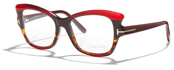 c4a25a842859 350  New TOM FORD Red Women Glasses Optical Frame 51mm TF5268 5268 thick Cat  Eye  TomFord  CatEye