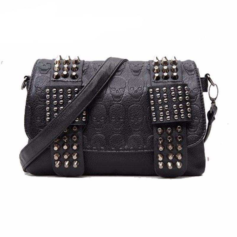 Famous Luxury Skull Handbag. Famous Luxury Skull Handbag Black Leather Messenger  Bag 102e9186853c9