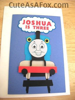 Thomas Paper Piecing Birthday Cards For Boys Kids Birthday Cards Thomas Train Birthday