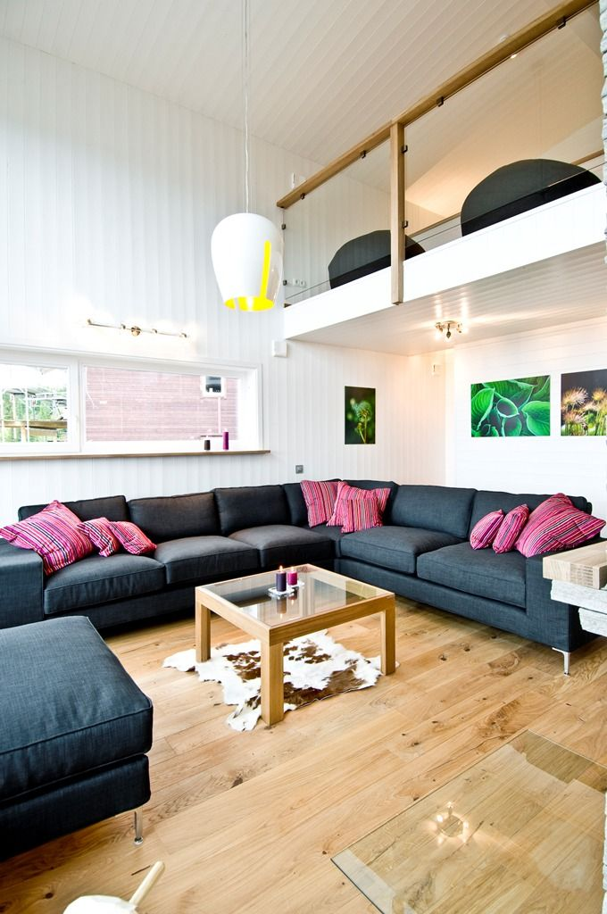 Small House With High Ceiling Light Colors Open Plan Small