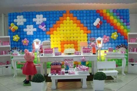 Resultado de imagen para painel de balões peppa pig