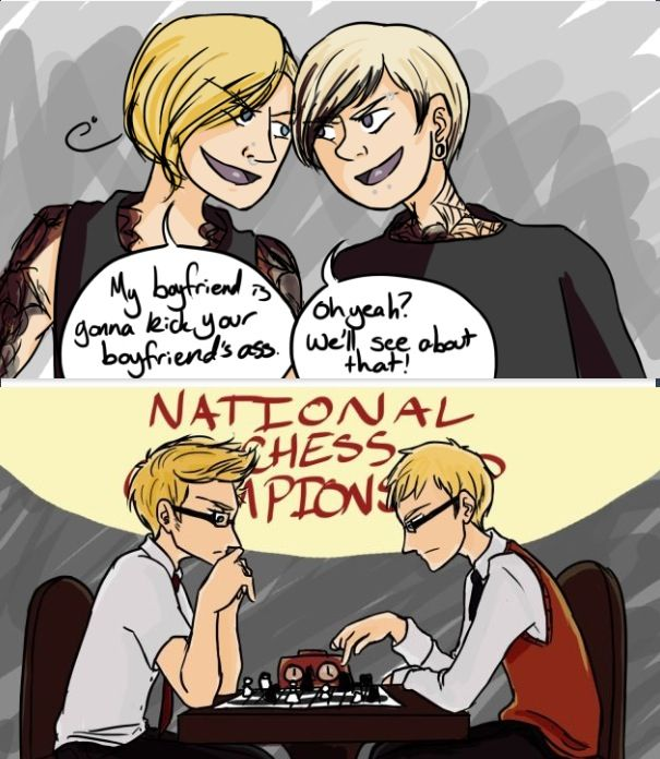 Aph Finland and Norway braging about their nerd boyfriends is the best