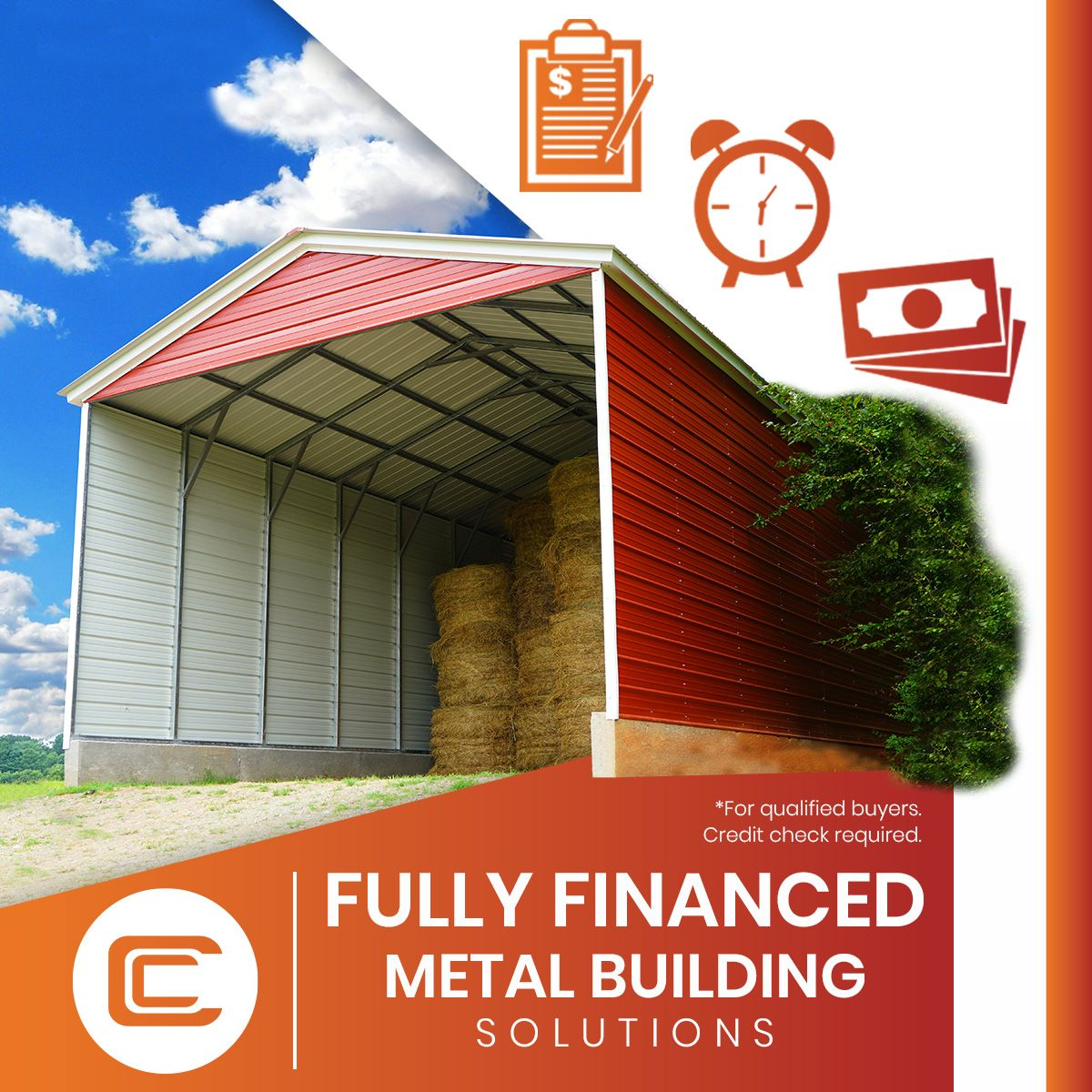 Fully Financed Metal Buildings from Carport Central in