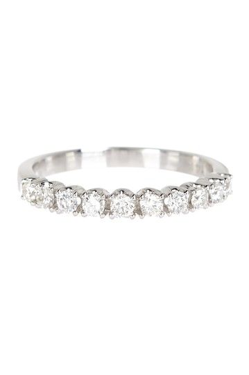 14K White Gold Diamond Ring 040 ctw by Odelia Jewelry on