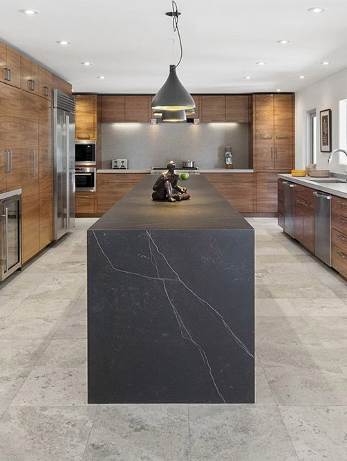 decor ideas for kitchens the focus of this image is the grey waterfall edge 17134