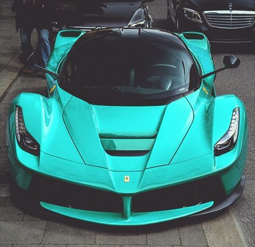 Enzo Ferrari With A Bright Teal Color