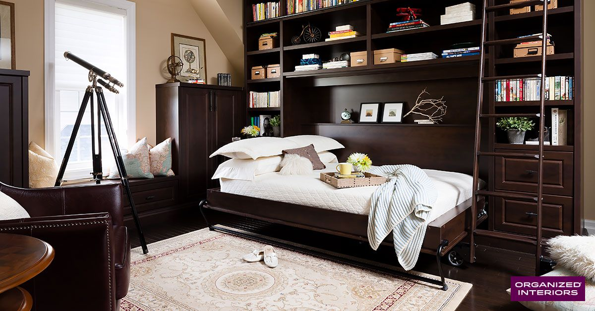 Our wall beds maximize space in smaller rooms and create