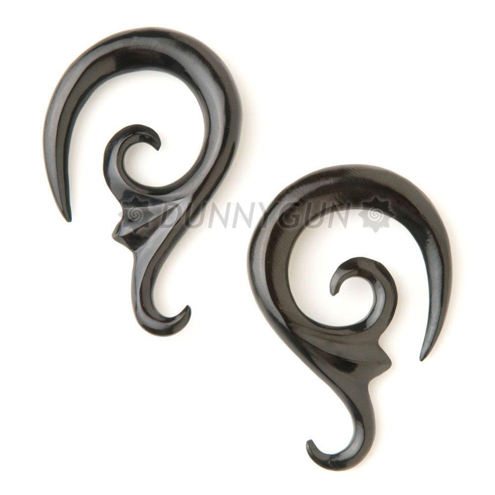 Gauge Plugs Gauges Earrings Rain 2 Mm Horn Skull And Crossbones Pirate Rocker Expander