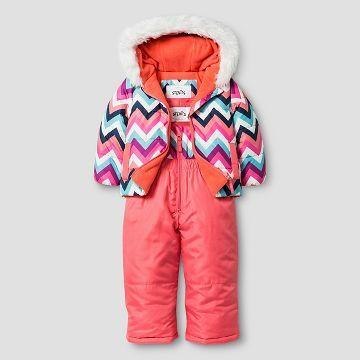 3266086e9 Baby Girls  Stevies Zig Zag Print 2-Piece Jacket and Snow Bib ...