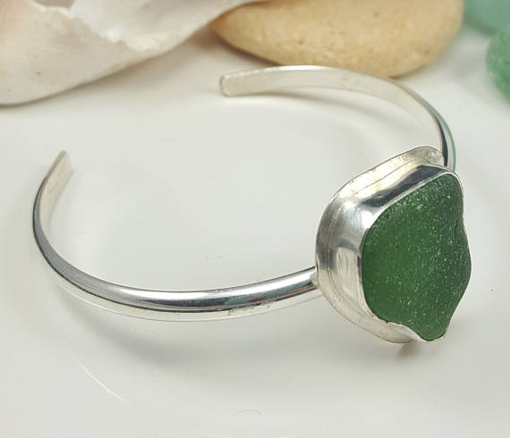 Sea Gl Bracelet Jewelry Cuff Kelly Green Beach