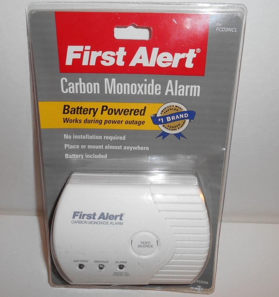 First Alert Battery Powered Carbon Monoxide Alarm Fcd3n New Old Stock Sealed Firstalert Carbon Monoxide Alarms Power Alarm