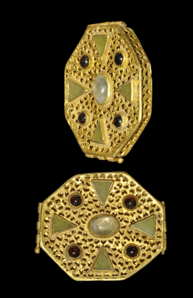 b3858315fffb Byzantine Gold Openwork and Cloisonne Reliquary Box
