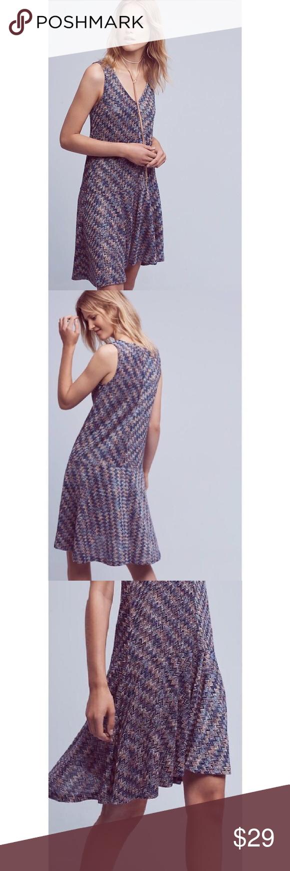 79e2a0b40d4a Maeve Westwater Multi-color Chevron Knit Dress Anthropologie Maeve Westwater  Multi-color Chevron Knit