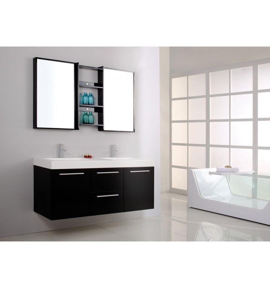 Ensemble de salle de bain MADRID Meuble Salle de bain double vasque