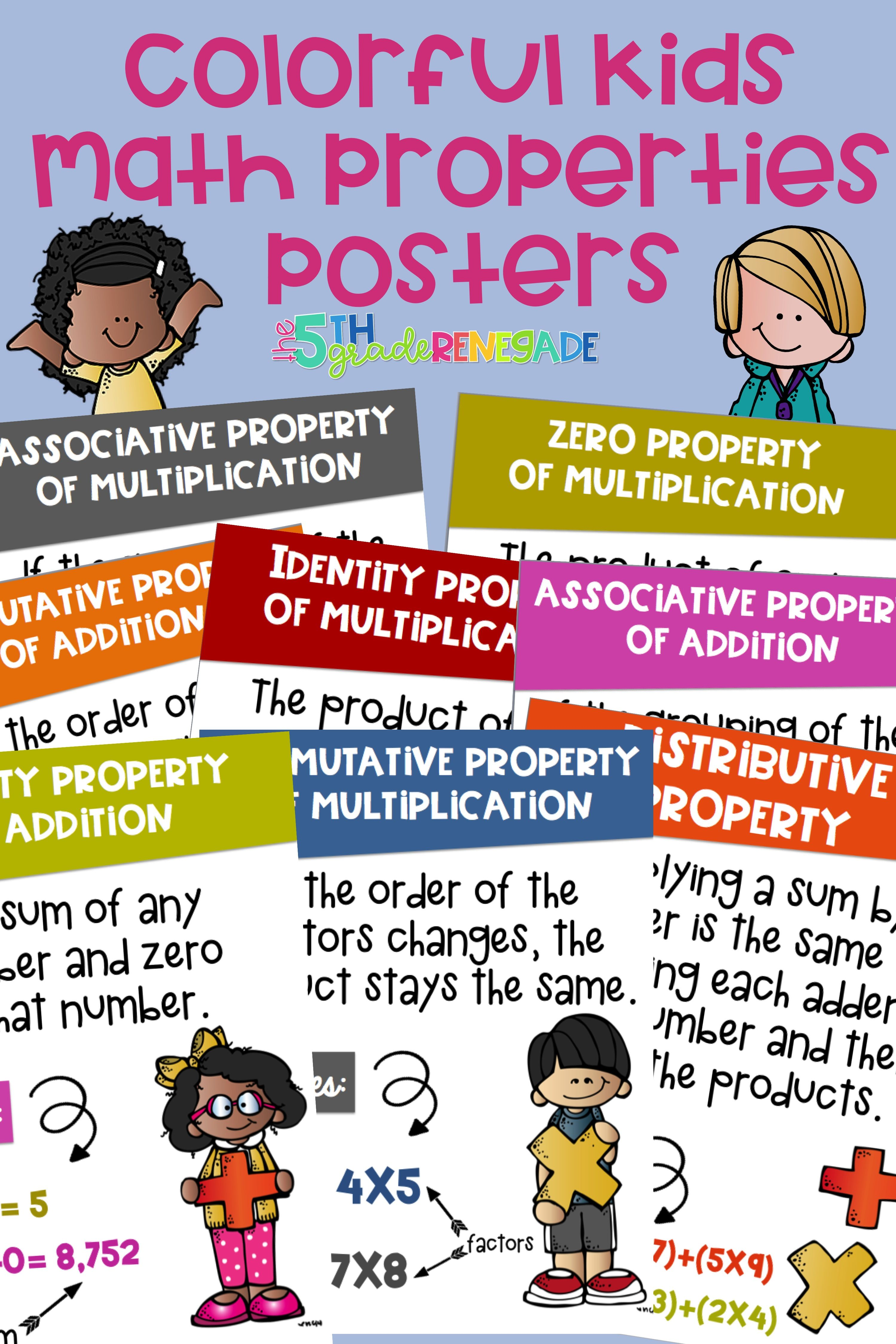 Math Properties Posters With Melonheadz Clipart Commutative Property Of Addition And Multiplication Associative Pro Math Properties Math Associative Property What is zero property of addition
