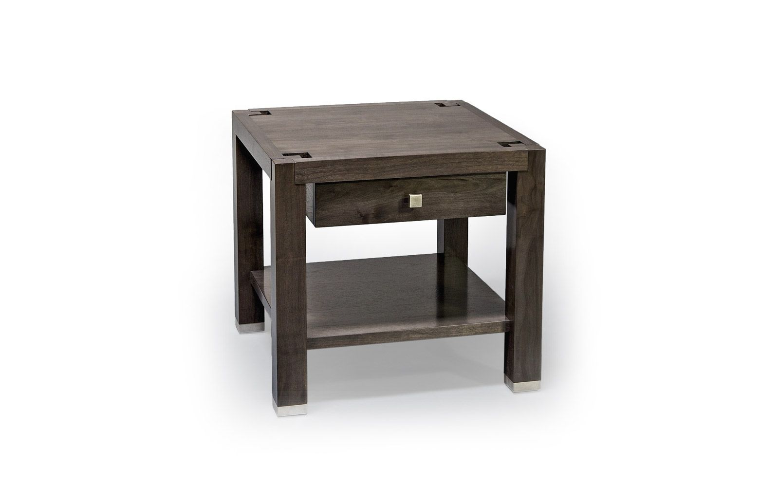 Architrave Side Table With Drawer And Shelf Knowlton Brothers Side Table Side Table With Drawer Fine Furniture