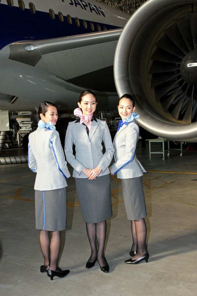 cover letter flight attendant%0A ANA All Nippon Airways cabin crew Japan new uniforms