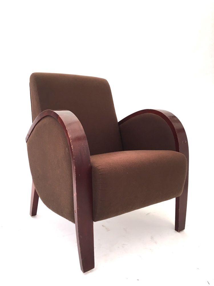 art deco style club chairs kneeling posture chair benefits pair of mid century bentwood halabala armchairs