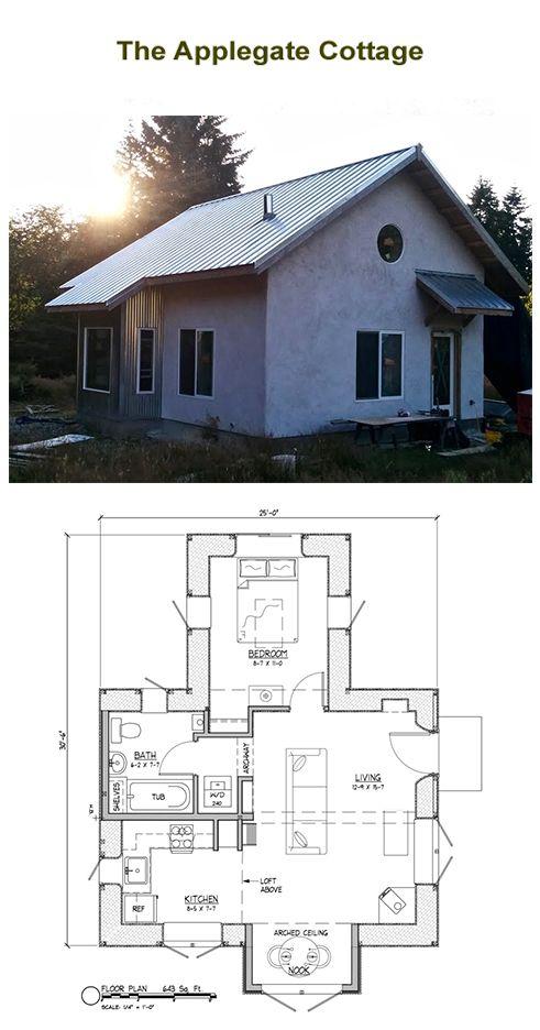 770sq ft strawbale home plans for sale (Applegate) | Home Design ...