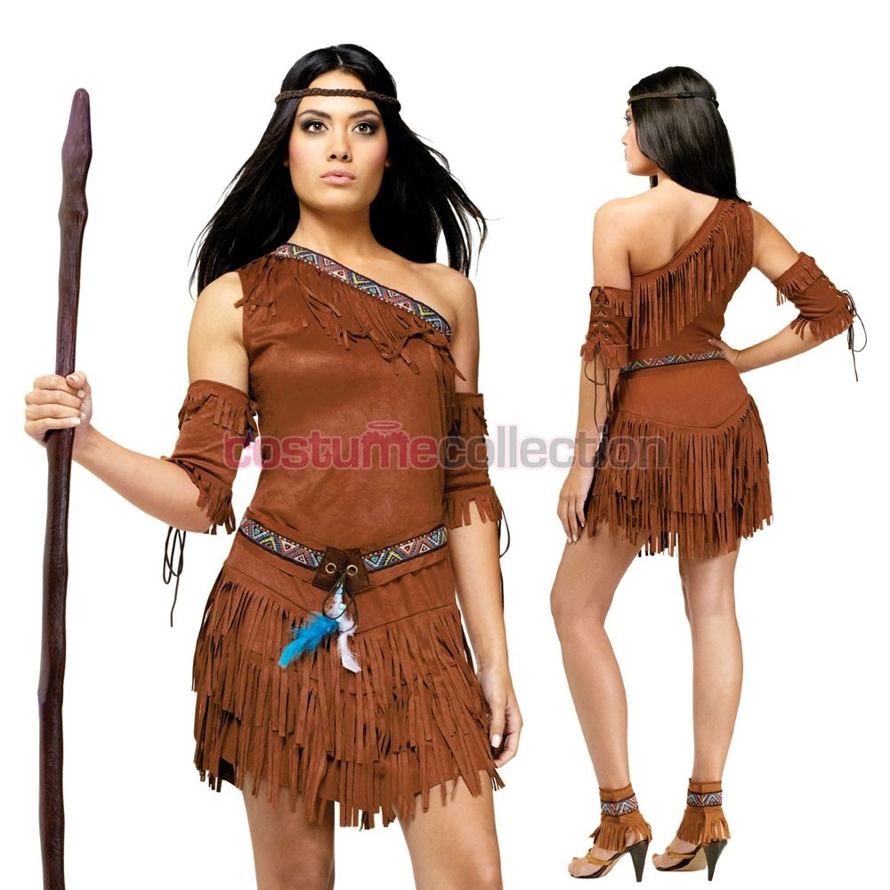 Indian Bow And Arrow Set Adults Western Indians Fancy Dress Accessory