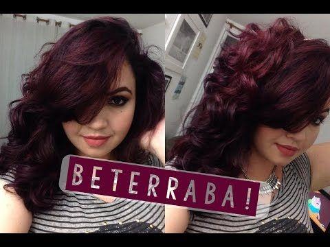 Cabelo Vinho Beterraba Tonalizando Em Casa Wine Hair Tutorial