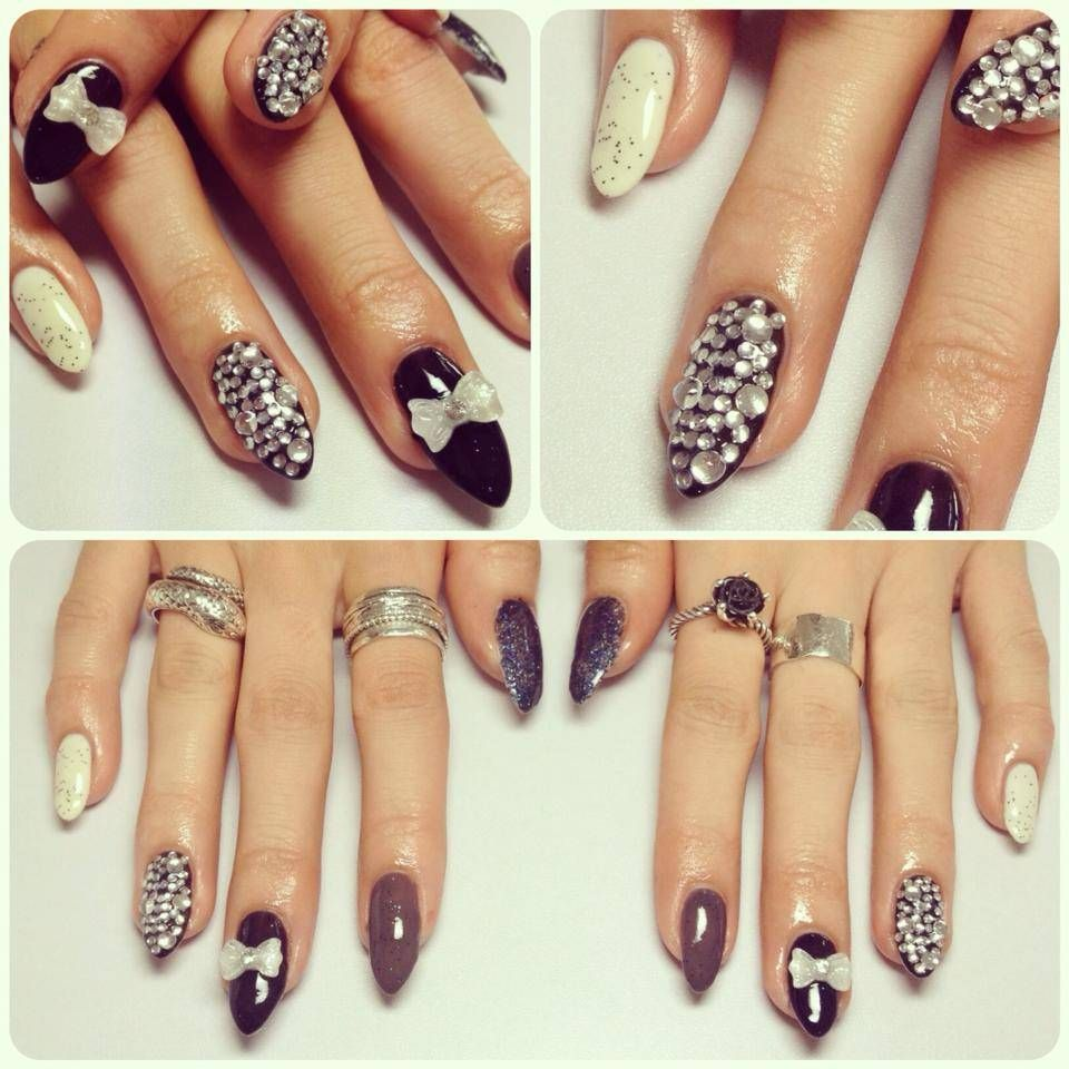 Monochrome Stiletto Nails - Nail Designs Picture | makeup ...