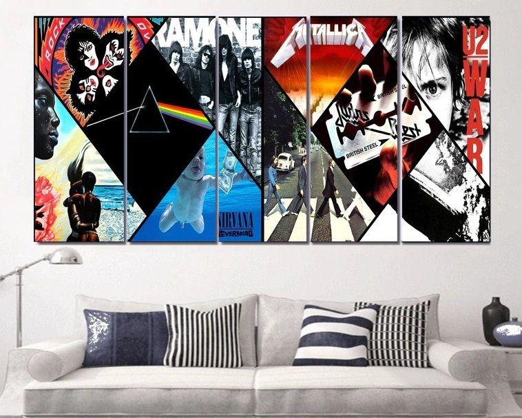 Classic Rock Art Canvas Framed Rock And Roll Wall Art Rock Etsy Star Mural Canvas Art Custom Wall Art