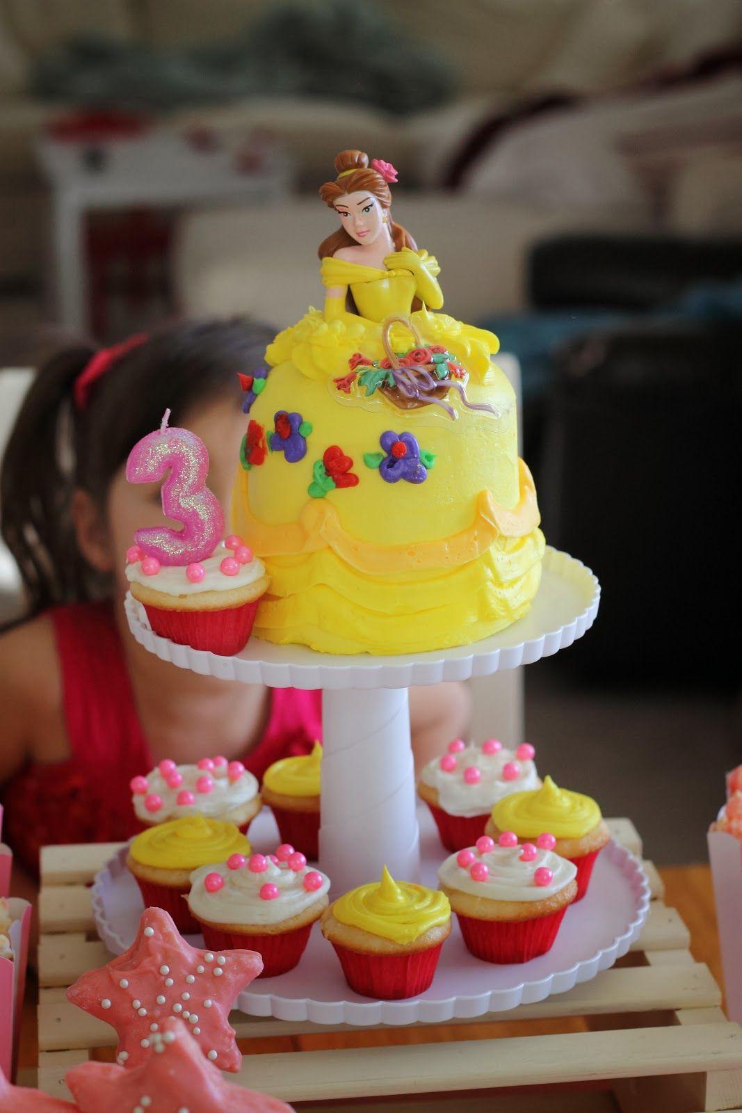 princess birthday party princess belle cake at safeway 10 mini
