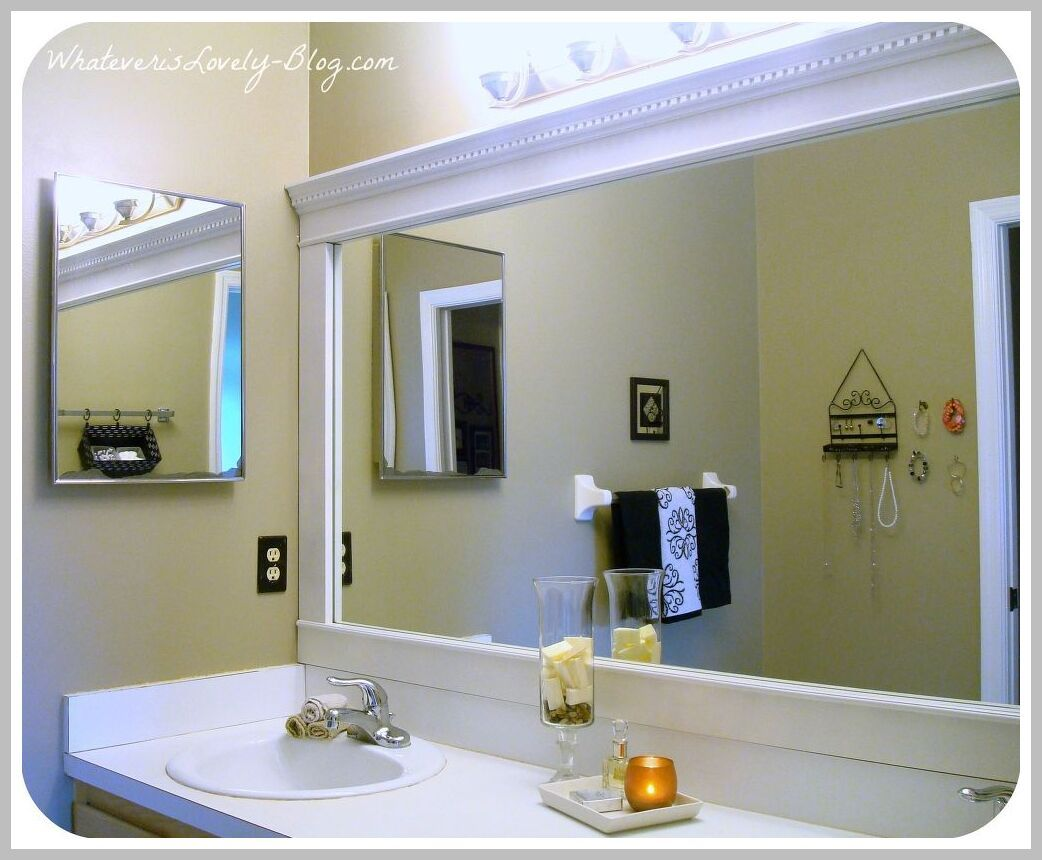 60 Reference Of Bathroom Mirror Decorative Trim In 2020 Bathroom Mirror Frame Bathroom Mirrors Diy Bathroom Mirror