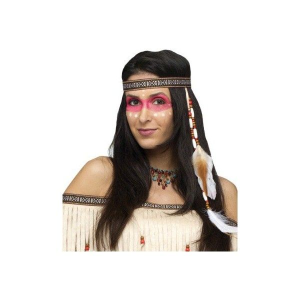 Bead And Feather Native American Headband 3 01 Liked On Polyvore Featuring Accessories