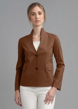 Italian Stretch Cotton Diana Jacket