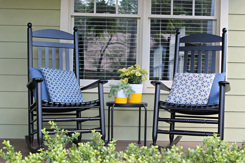 Decorating Front Porches With Rocking Chairs Porch