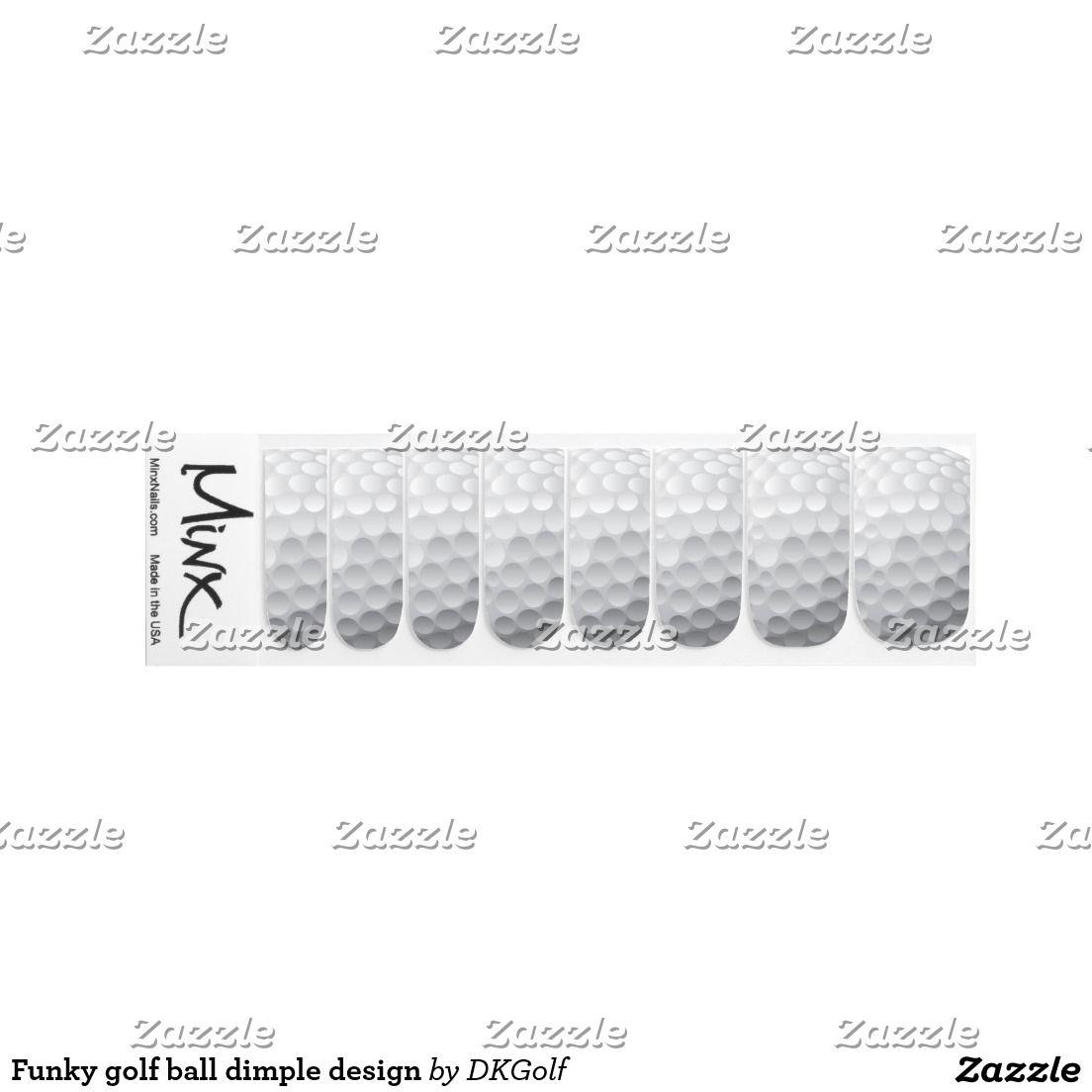 Funky golf ball dimple design nail art | DKGolf | Pinterest