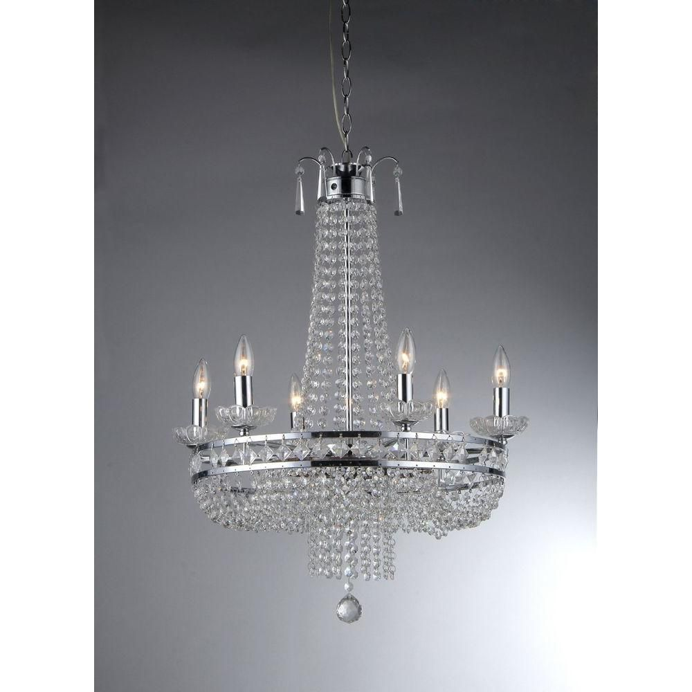 warehouse of tiffany chandelier. Warehouse Of Tiffany Euphoria 7-Light Ceiling Chrome Crystal Chandelier C