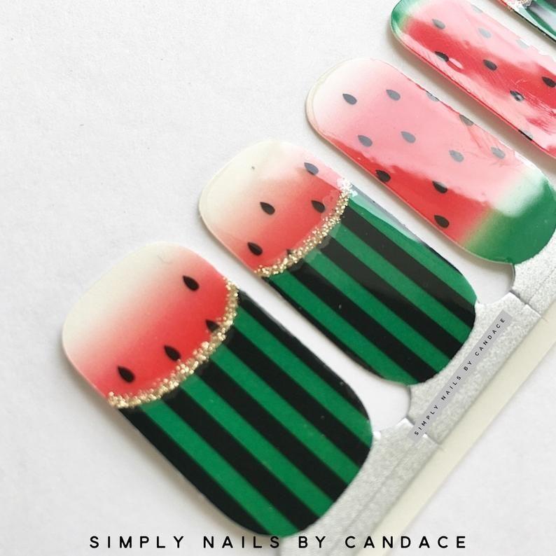 Watermelon Design 100 Nail Polish Wrap Sticker Long Wear Nail Polish Nail Polish Nail Sizes