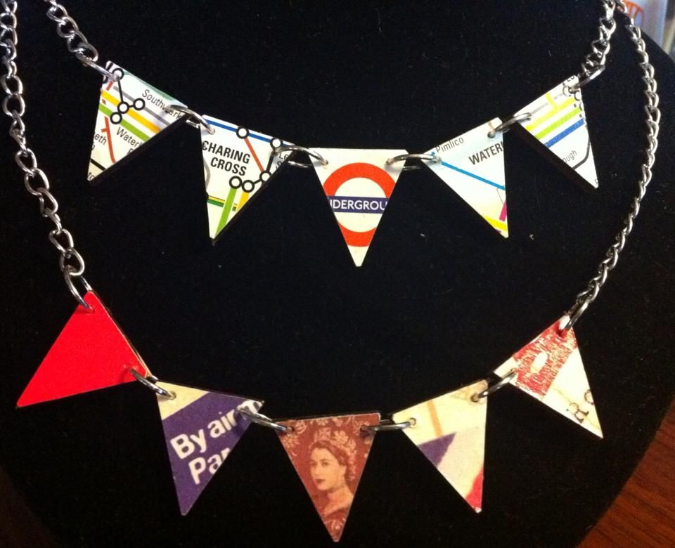 British themed bunting necklaces
