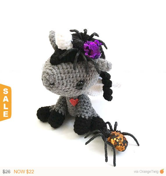 Sale Halloween Decor Amigurumi Unicorn Plush Crochet | Etsy Mega ...