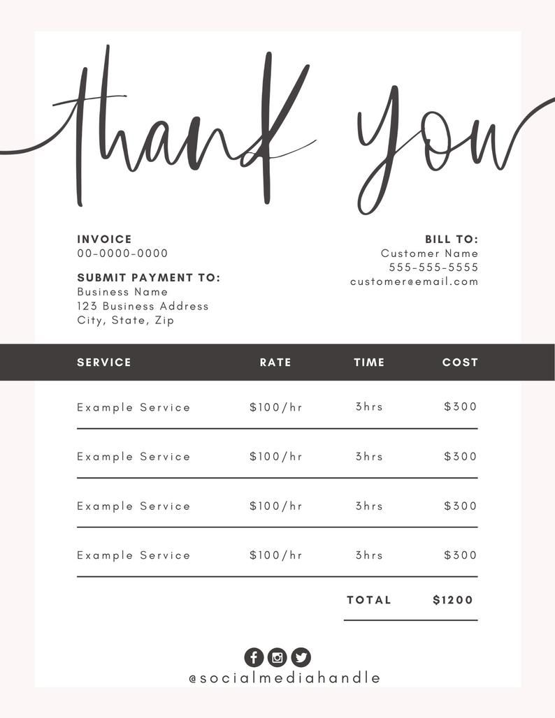 Invoice Template For Canva Invoice Design Order Form Printable Diy Customizable Editable Instant Download Branding Business Inv01 Invoice Design Invoice Template Invoice Design Template