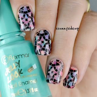 Stamping Over Dry Bruah Technique Nail Art Design Items Used
