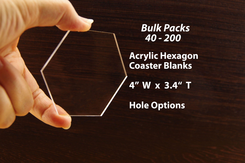 200 Acrylic Coaster Blank Acrylic Hexagon Coaster Wedding Coasters Clear Acrylic Hexagon Place Cards 4 W Bulk Blanks For Vinyl Sb63 Wedding Coasters Hexagon Coasters Hexagon