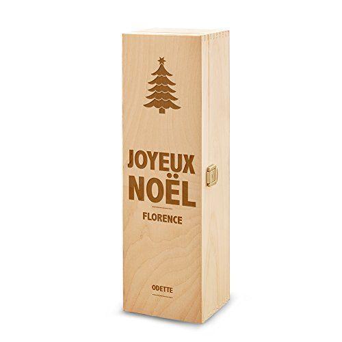 bo te cadeau vin en bois avec gravure personnalis du nom coffret cadeau pour bouteilles. Black Bedroom Furniture Sets. Home Design Ideas