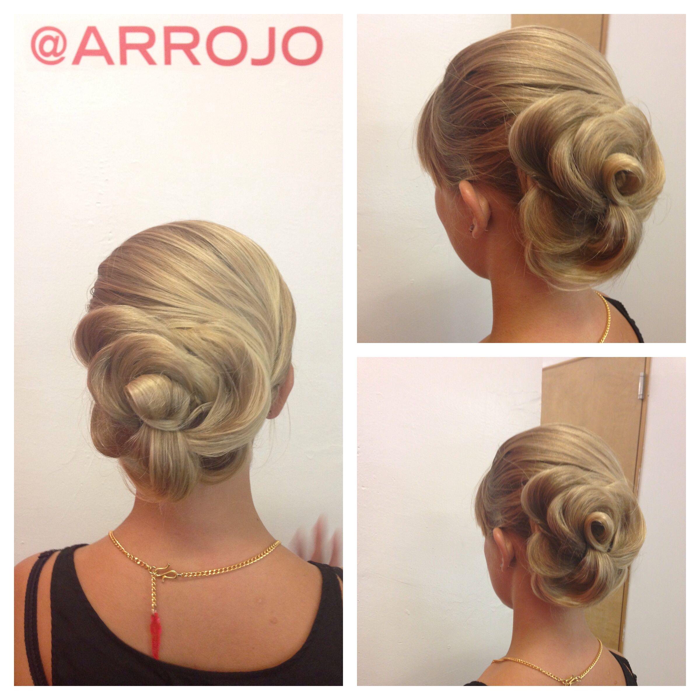 Rose updo rose braid sleek hairstyles braids