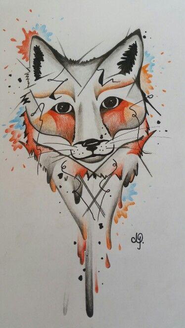 fox fuchs aquarell tattoo tatto pinterest aquarell tattoo fuchs und aquarell. Black Bedroom Furniture Sets. Home Design Ideas