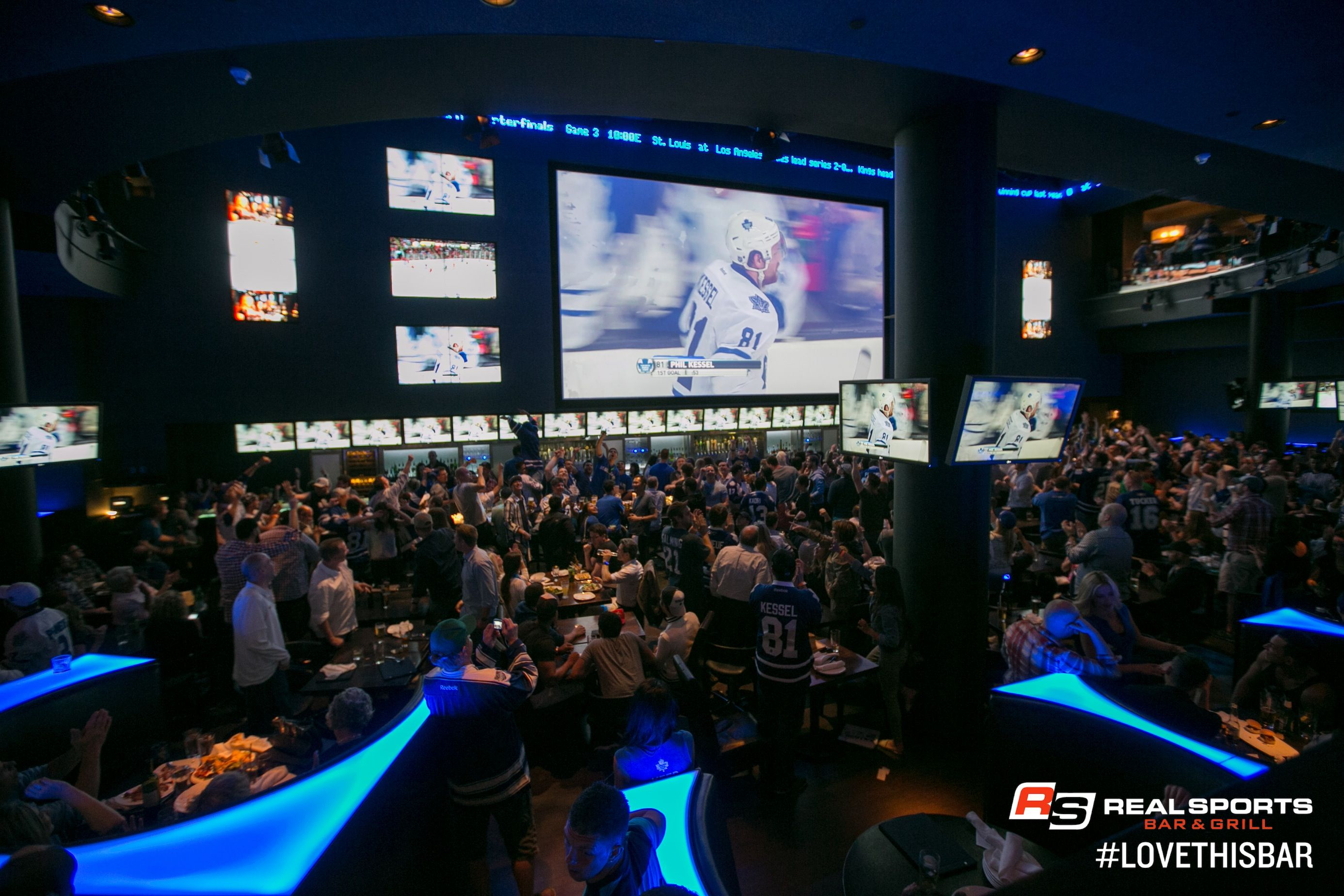 The Arena Bar, largest sport bar in downtown district