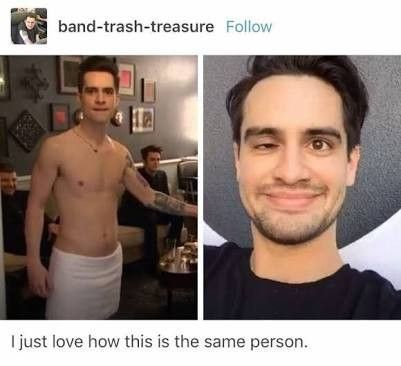 Repinning because Brendon in a towel.