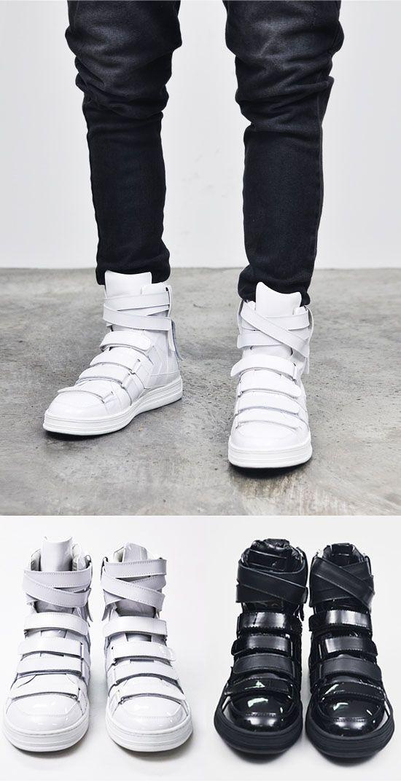 Designer Homme Mens Multi Strap Velcro