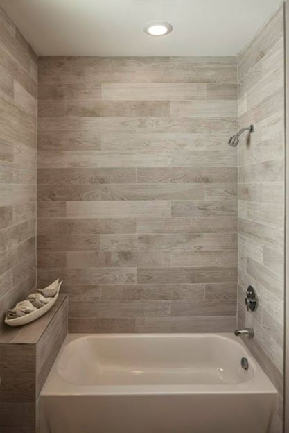 Porcelain Tile Made To Look Like Wood On The Cryer Project